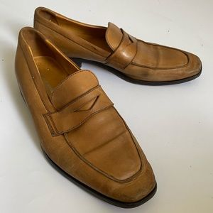 7 CUOIO MENS LOAFERS SHOES SLIPONS LEATHER BROWN